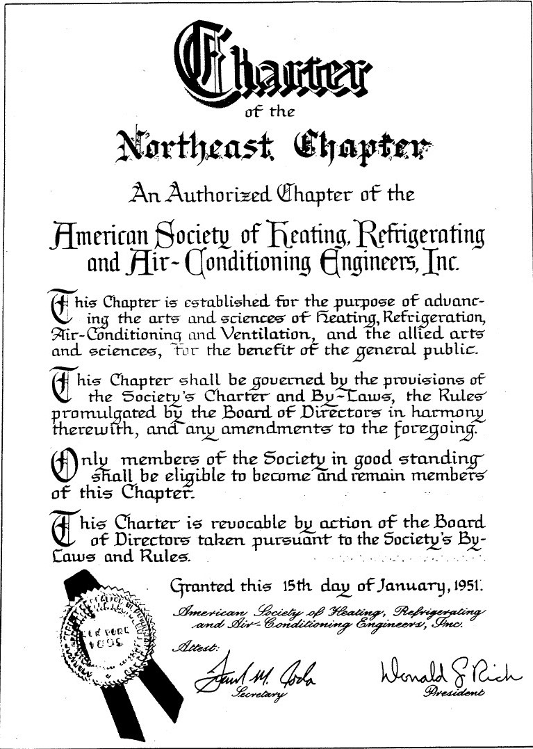 Northeast Chapter Charter
